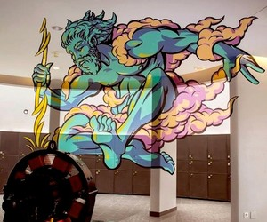 Zeus - Anamorphic Mural by Truly Design in France