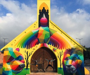 Street Artist Okuda Painted a Church in Morocco