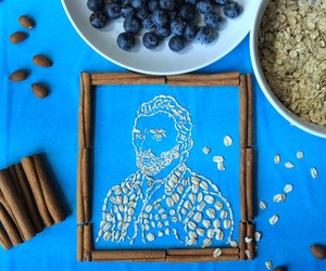 Famous Paintings Created Entirely from Oatmeal