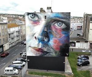 Great Portrait Mural by Street Artist David Walker
