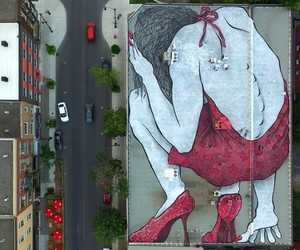Gigantic Mural by Street Artists Ella & Pitr