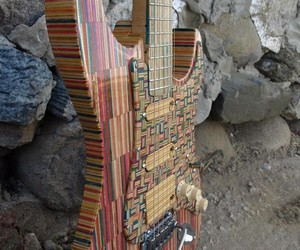 Electric Guitar Made from Discarded Skateboards
