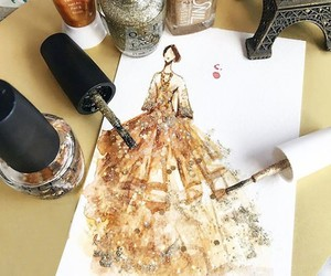 Haute Couture Illustrated with Nail Polish