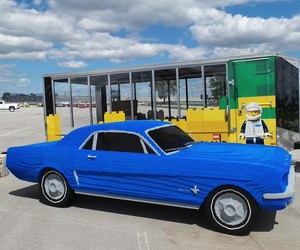 Life Size Ford Mustang Built out of LEGO Bricks