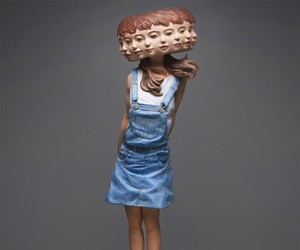 Glitched Wooden Sculptures of Women