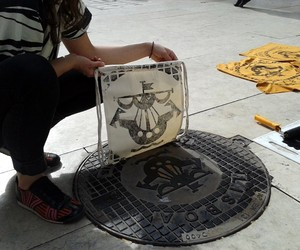 Designs Printed Directly on Urban Utility Covers