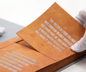 """A """"Drinkable Book"""" That Filters Water"""
