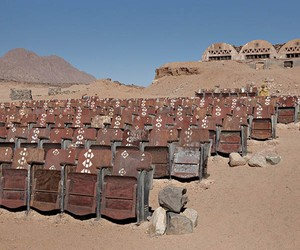 Abandoned Outdoor Movie Theater in the Desert