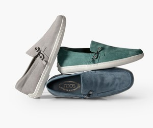 Envelope boat shoes by Nendo for Tod's
