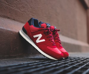 "New Balance ML574 ""Pennant"" Red"