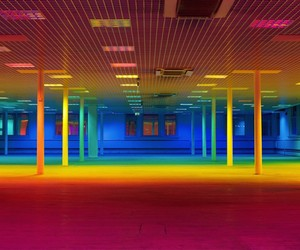 Liz West Turns a Gallery into a Giant Rainbow