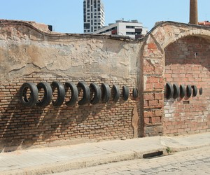 Installations Made With Salvaged Tires, Barcelona