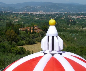 Inflatable Brunelleschi's Dome by Lapo Binazzi