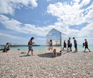 A Mirrored Beach Hut Lands On Worthing Beach