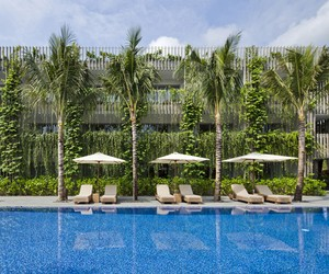 Babylon Hotel Building at Naman Retreat Resort