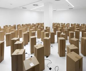 Zimoun's Dancing Cardboard Boxes