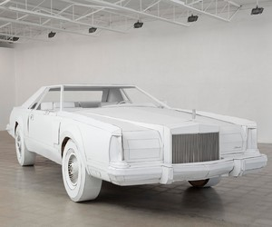 1979 Lincoln Continental Replica out of Cardboard