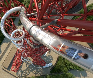 London opens world's tallest, longest tunnel slide