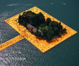 Christo's Floating Piers Opens on Lake Iseo, Italy