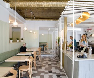 Café Pista in Montréal by Les Ateliers Guyon
