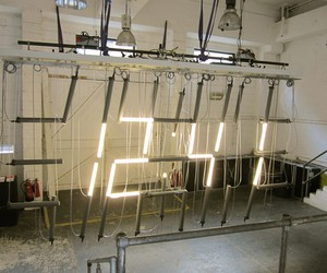Tube Lamp Clock by Lambert Kamps