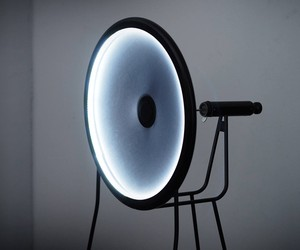 Black Hole Lamp by Curve ID