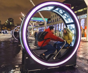 Loop's Giant Illuminated Wheels Light up Montreal