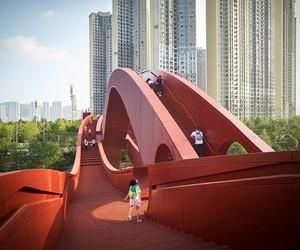 Lucky Knot bridge by NEXT Architects,China