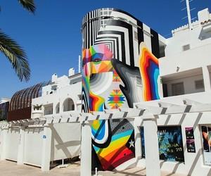 Colorful Mural by Okuda & Felipe Pantone in Ibiza