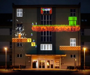 8-bit Invader Projection Mapping