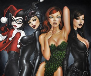 """DC Comics """"Bad Girls"""" Print"""