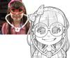Strangers' Photos tranformed into Animes
