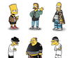 The Simpsons-Characters Illustrated in Street Wear