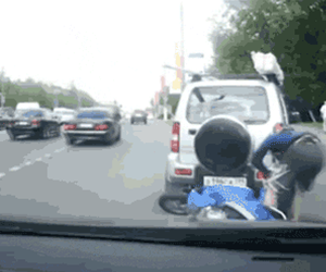 Double Scooter Accident