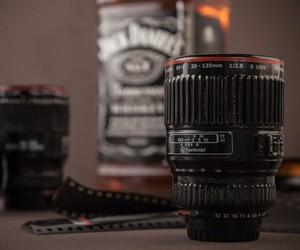 Camera Lens Shot Glass