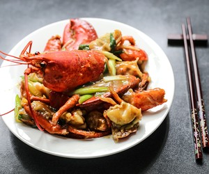 Cantonese Style Ginger Scallion Lobster