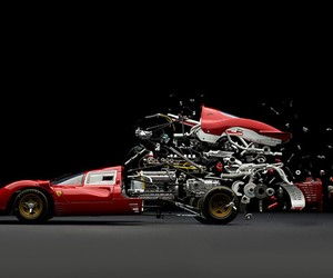 Exploding Sports Cars Photography