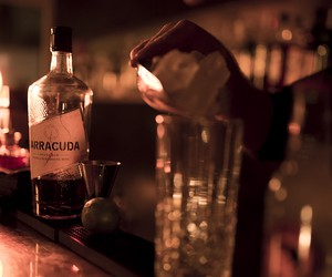 The new Barracuda Spiced Rum in Top Bar in Hamburg