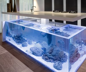 Fish Tank Kitchen Island