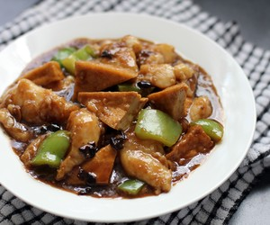 Fish and Deep Fried Tofu in Black Bean Sauce