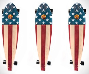 American Flag Longboards