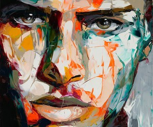 Françoise Nielly formed with thick layers of paint