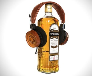 Recycled Whiskey Barrel Headphones