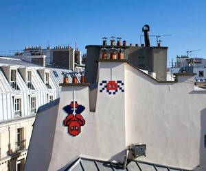 "New Great Mosaic-Artworks by ""Invader"" in France"