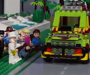 Stop Motion: Jurassic Park LEGO version