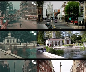 London in 1927 and 2013