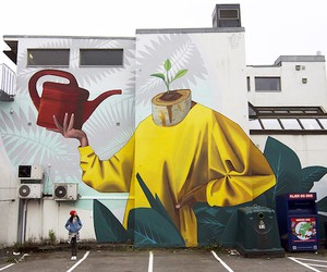 """""""Never Give Up"""" - Mural by Artez in Norway"""