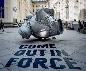 "Nike ""Come Out In Force"" Sneakerball Sculpture"