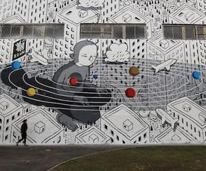 Illustrative Mural by Artist Millo in Russia