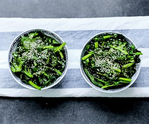 Sauteed Spinach in Sesame Oil